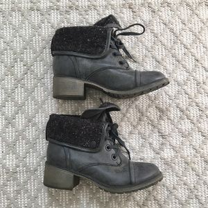 Roxy Lace-Up Combat Boot